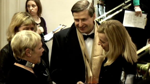 london critics' circle film awards 2009: celebrity interviews; eddie marsan speaking to press / zegerman speaking to press / dame judi dench speaking... - ジュディ・デンチ点の映像素材/bロール