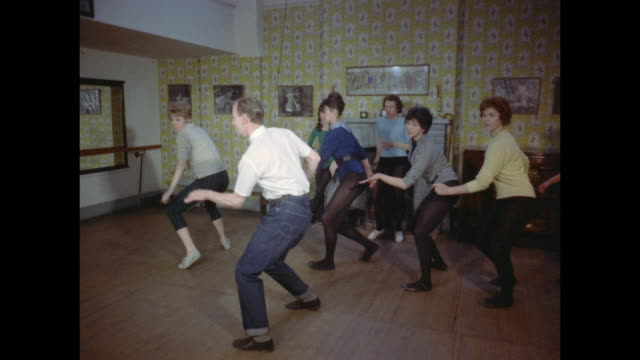1961 - london - dance class - jeans stock videos & royalty-free footage