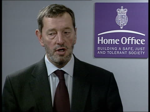 david blunkett mp interviewed sot i've introduced some of the toughest sentences in the world in relation to serious crime/ want to now address minor... - sentencing stock videos & royalty-free footage