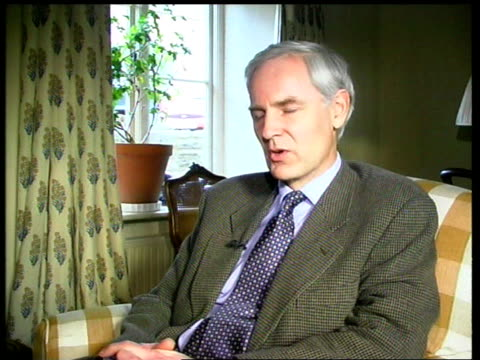 david heathcoatamory mp interview sot dti can now widen terms of reference of independent inspectors and make them look at wider measures especially... - interlocked stock videos & royalty-free footage