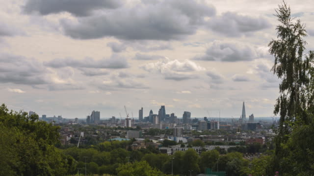 london - daylight skyline timelpase - parliament hill stock videos and b-roll footage