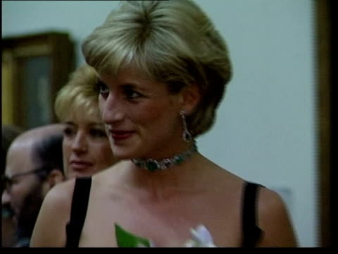 london diana princess of wales attending art function - teilnehmen stock-videos und b-roll-filmmaterial