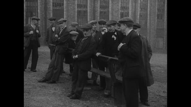 london docks empty men waiting idle tables of poor children eating - 1935 stock videos & royalty-free footage