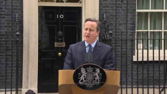 london downing street ext david cameron mp press conference / statement sot last night in brussels i set out britain's new settlement with the... - david cameron politician stock videos & royalty-free footage