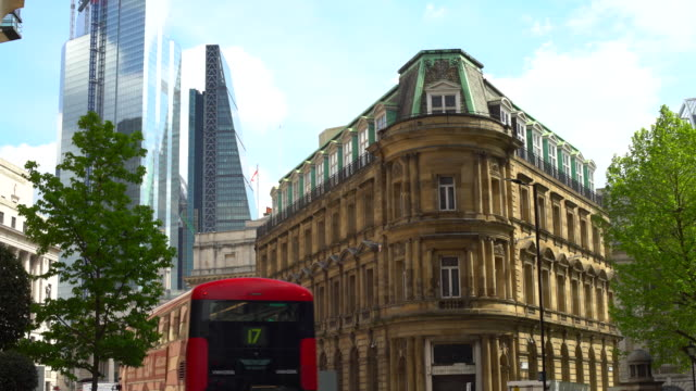 london downtown with old and new buildings - neu stock videos & royalty-free footage