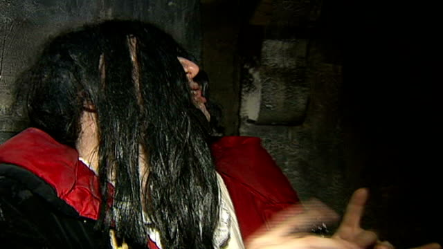 london dungeon 'spook team' of advisers unveiled england london london dungeon int close up of boy having face paint applied to give appearance of... - face down stock videos & royalty-free footage