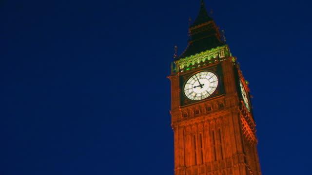 london, englandbig ben at night - big ben stock videos and b-roll footage