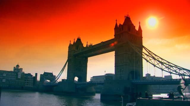 london, englandsun setting behind tower bridge - unknown gender stock videos & royalty-free footage
