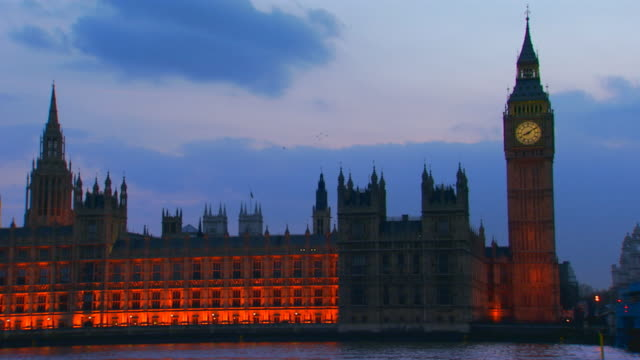 London, EnglandWestminster Abbey lit up in evening