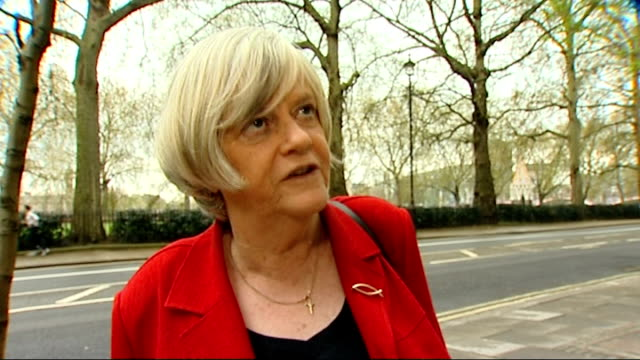 ann widdecombe interview sot - ann widdecombe stock videos & royalty-free footage
