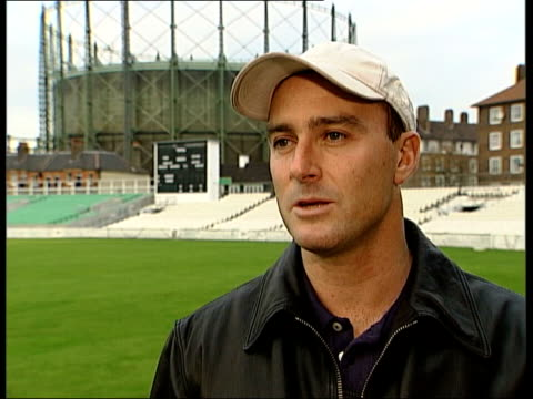 London EXT Graham Thorpe interview SOT oppression in Zimbabwe/ cricket is bit irrelevent when this is going on/ we missed trick last night/ if they...