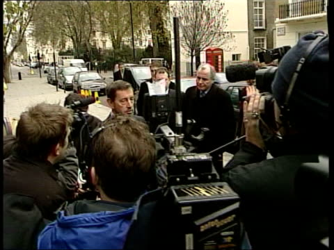 london: ext gv blunkett giving statement to press tx int tony blair mp speech sot - no doubt at all that he will be exonerated by it/ known david for... - no doubt band stock videos & royalty-free footage