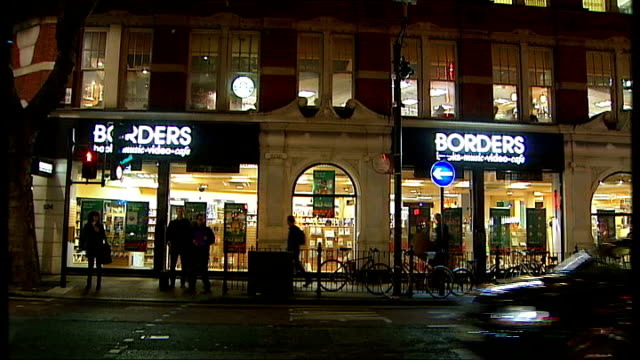 london borders bookshop in charing cross road - charing cross stock videos and b-roll footage