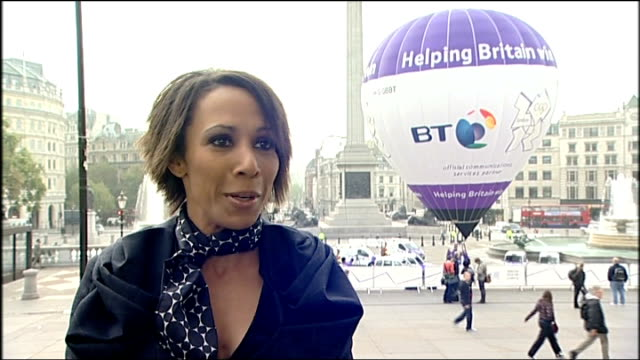 london ext / night fireworks display on top bt tower to mark 100 day countdown to london 2012 olympics night ends dame kelly holmes interview sot... - bt tower london stock videos & royalty-free footage