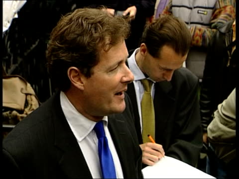 London EXT Piers Morgan press conference SOT She has won the massive sum of three thousand five hundred pounds which by anybody's yardstick is an...