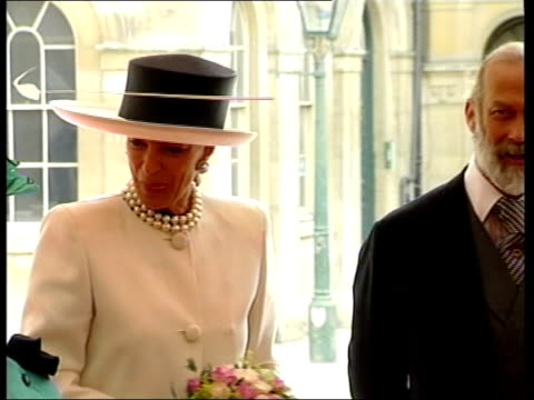 princess michael of kent on official function with husband prince michael of kent - prinz michael von kent stock-videos und b-roll-filmmaterial