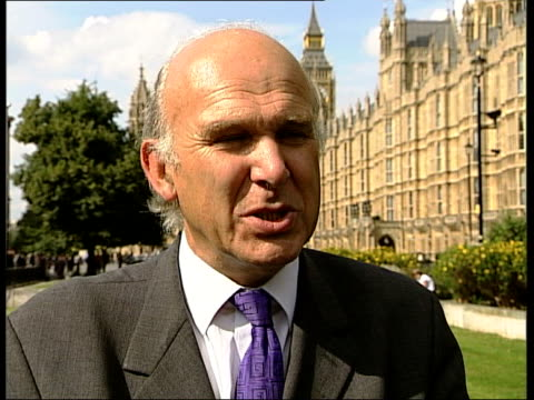 London EXT Vince Cable MP interview SOT good day for policy holders/ million people lost money as result of failure of Equitable Life and govt...