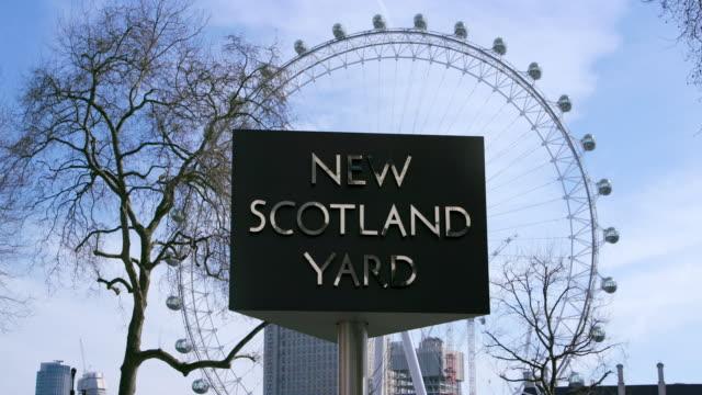 London Eye And New Scotland Yard Revolving Sign Curtis Green Building