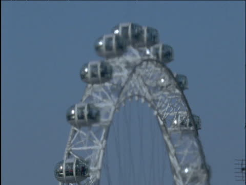london eye in heat haze from chimney - heatwave stock videos & royalty-free footage
