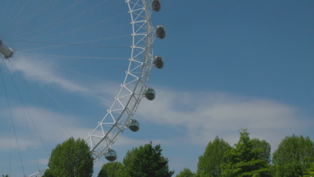 london eye in london deserted during the lockdown (covid19) v.1 - continuity stock videos & royalty-free footage