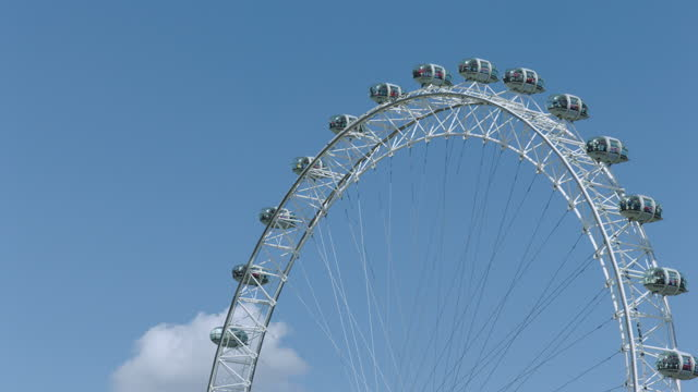 london eye (millennium wheel) / london, england - blue stock videos & royalty-free footage