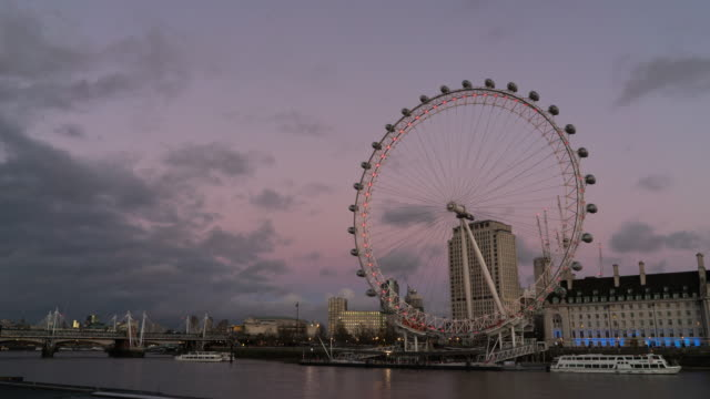 london eye ,time lapse. - millennium wheel stock videos and b-roll footage