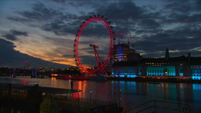 london eye timelapse - river thames stock videos & royalty-free footage