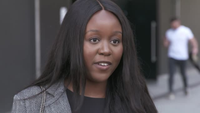 london fashion week adapts to coronavirus environment; england: london: ext derin adetosoye interview sot - environment stock videos & royalty-free footage