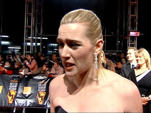 controversy over underweight models / kate winslet speaks out tx kate winslet interview sot beauty comes from the inside / on death of reston / on... - london fashion week stock videos and b-roll footage