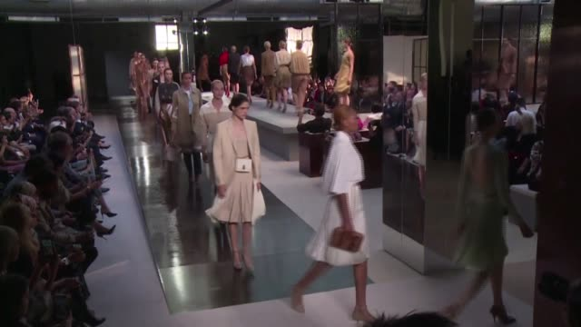 london fashion week kicks off with a livestreamed show from burberry but without the hordes of industry insiders, a-listers and journalists who... - live broadcast stock videos & royalty-free footage