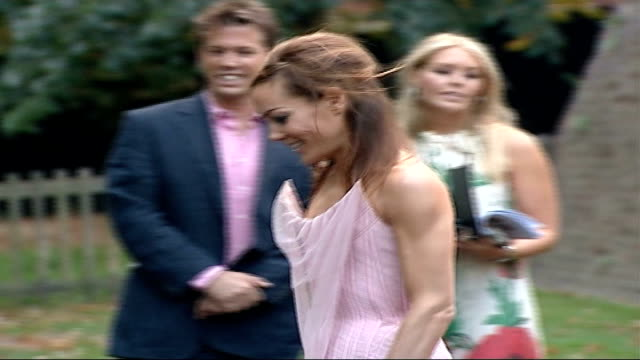 launch party; england: london: holland park opera house: ext **beware flash photography** tara palmer-tomkinson along claudia schiffer posing for... - floor length stock videos & royalty-free footage