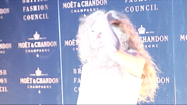 launch party; night tamsin egerton posing for photocall tamsin egerton interview sot - on her 'fairytale-inspired' dress - 白のドレス点の映像素材/bロール
