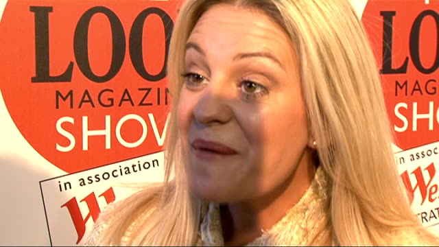 look magazine fashion show and interviews; nicola stapleton posing for photocall nicola stapleton interview sot - top fashion tips - be confident,... - eastenders stock videos & royalty-free footage