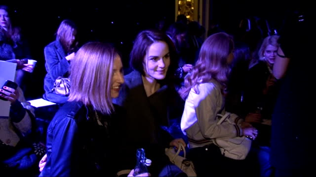 mulberry autumn/winter 2012 show england london photography *** laura carmichael interview sot / general views of lana del rey / michelle dockery and... - michelle williams actress stock videos and b-roll footage