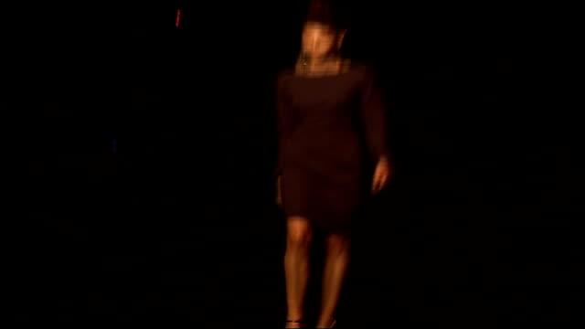 vivienne westwood collection; england: london: int general views of audience: general views of vivienne westwood models on catwalk wearing wrap... - black dress stock videos & royalty-free footage