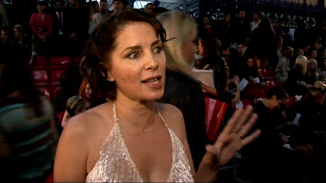 Vivienne Westwood show Sadie Frost interview SOT On the fabric of her Vivienne Westwood dress / I want to touch myself it feels really nice / On...