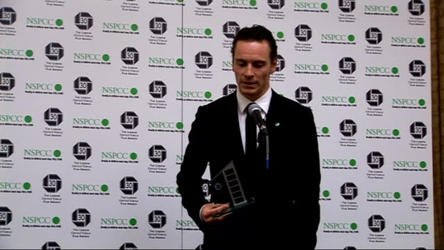 london film critics' circle awards 2010 arrivals interviews and winners' press conference michael fassbender press conference sot on winning the... - best supporting actor stock videos & royalty-free footage