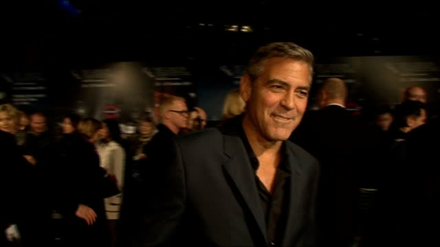 George Clooney attends premiere of The Ides of March George Clooney interview SOT George Clooney interview SOT On casting and working with Ryan...