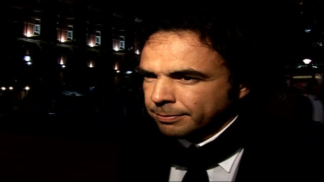 Gala closing night screening of 'Babel' / interviews with director and cast Alejandro Gonzalez Inarritu interview SOT Basically the film is about...