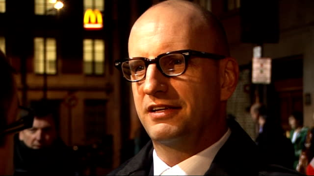 'the informant' premiere in london red carpet arrivals steven soderbergh interview sot on film festivals / what he saw in matt damon back in 2001 /... - cleopatra stock videos & royalty-free footage