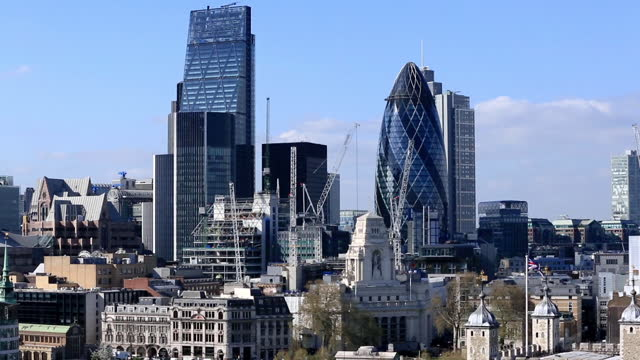 tu london financial district and tower of london - tradition stock videos & royalty-free footage