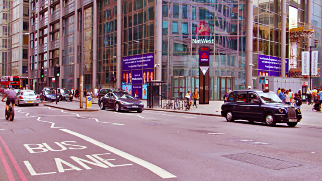 london financial district. big shopping malls. economy on rise. - avenue stock videos & royalty-free footage
