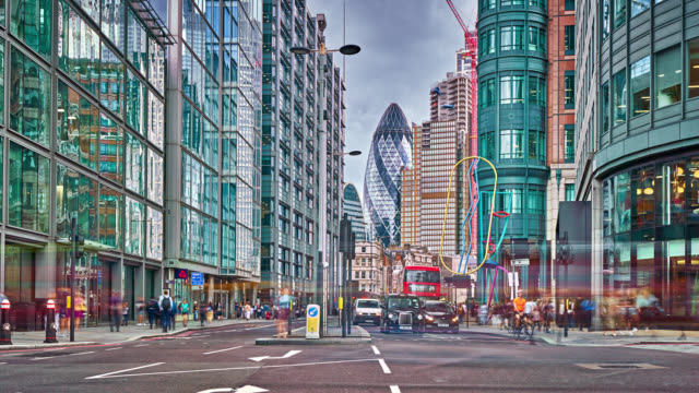 london financial district. traffic. residential building. business concept - city of london stock videos & royalty-free footage