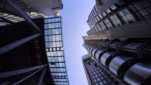 london financial district pov. - below stock videos and b-roll footage