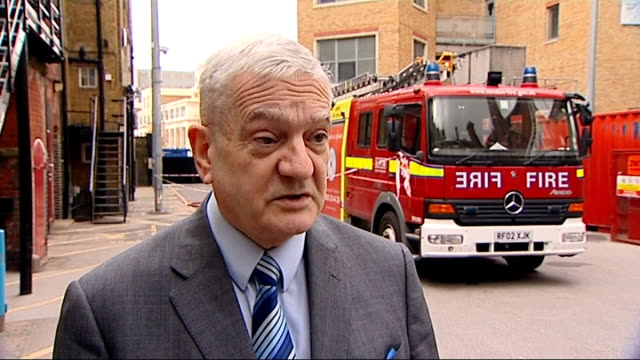 london fire brigade to save two million pounds by cutting 'unnecessary overtime' councillor maurice heaster interview sot - emergency planning stock videos & royalty-free footage