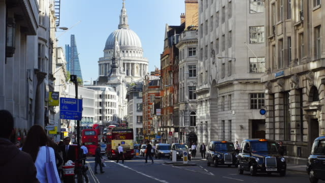 London Fleet Street And St Pauls Cathedral