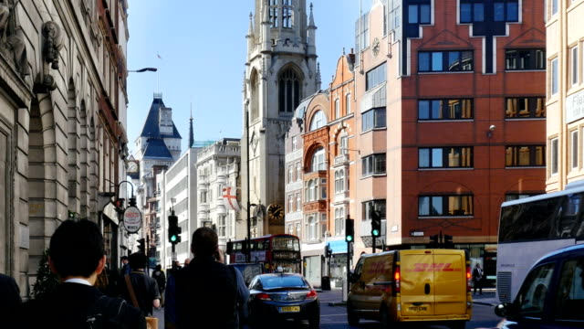 london fleet street and the strand - the strand london stock videos and b-roll footage