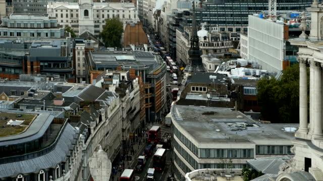 t/l london fleet street high angle view - fleet street stock videos & royalty-free footage