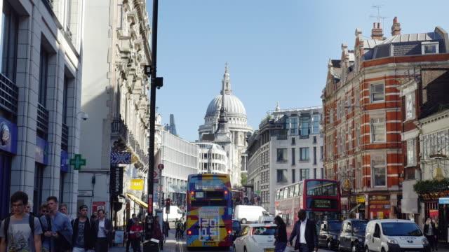 ロンドンフリート Street ,Ludgate ヒル、セントポール大聖堂(UHD