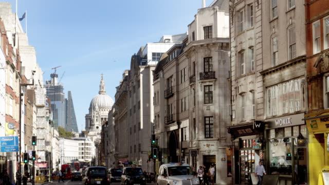 london fleet street to the east - fleet street stock videos & royalty-free footage
